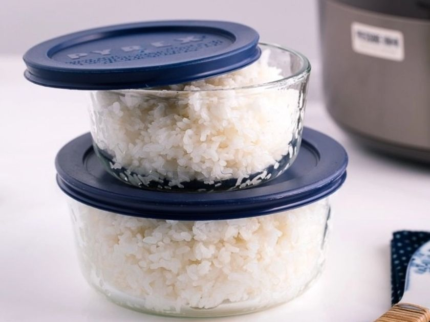 Store cooked rice